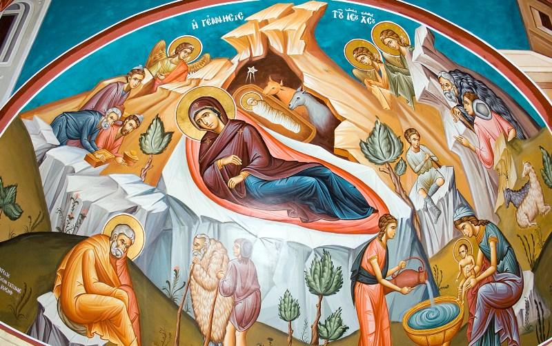 Mural Birth of Christ