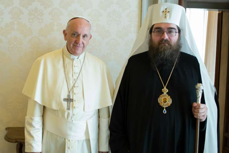 Pope Francis meets with Metropolitan Ratislav