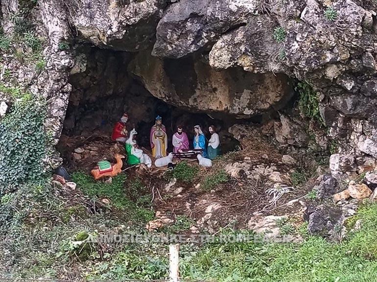 Γιάννενα: Σπηλιά μετατράπηκε σε φάτνη του Χριστού